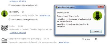Une extension Chrome pour copier les MP3 de Spotify supprimée par Google   Libertés Numériques   Scoop.it