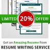 A special 20% discount offered for a limited period of time by Resume2014.com