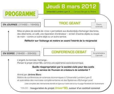 Univer'SEL, un système d'échange local à l'Université Lyon 2   Monnaies En Débat   Scoop.it