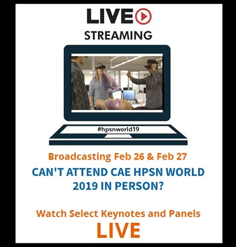 5701cb389c2 CAE Healthcare Livestreams from its 2019 HPSN World Simulation Training  Conference (Orlando, FL)