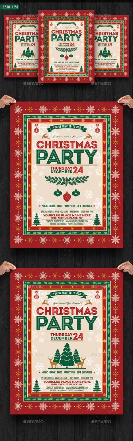 25 Best Print Ready Christmas Party Flyer/ Invitation | Design Slots | Scoop.it