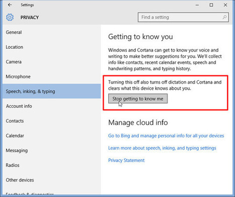 How to turn off Windows 10's keylogger (yes, it still has one) | Cyber Security | Scoop.it