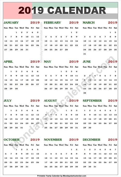 Uae Calendar 2019 With Holidays Editable 2019