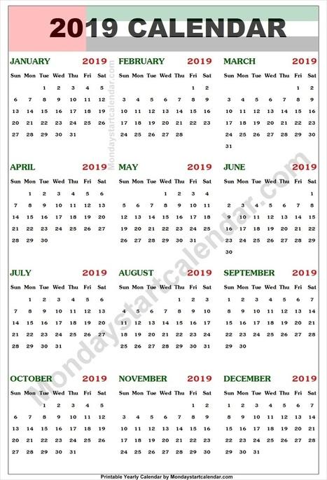 Uae Calendar 2019 With Holidays Editable 2019