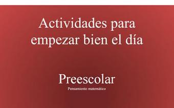 Actividades de pensamiento matemático en preescolar (pdf) | Profesión Palabra: oratoria, guión, producción... | Scoop.it