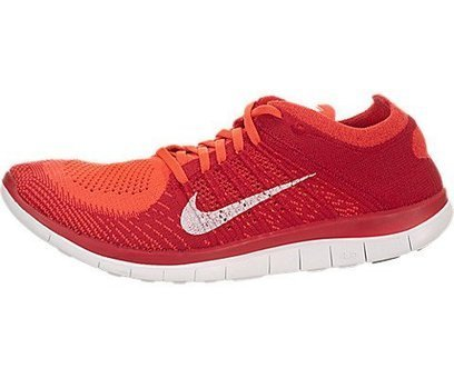 sneakers for cheap 0967f 79155 Nike Mens Free Flyknit 4.0 Running Shoes Bright Crimson White University  Red 631053-601 Size 9.5