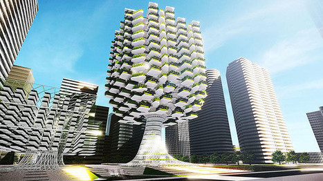 Tree-Like Skyscraper Takes Urban Farming to Next Level | ArchDaily | Engineering | Scoop.it