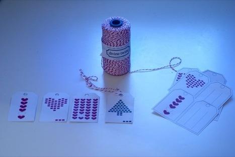Vie de Miettes » Des étiquettes de Noël à imprimer aux motifs minimalistes | Minimalistdesign | Scoop.it