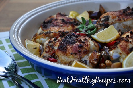 Oregano and Lemon Roasted Chicken Thighs | Nutrition & Recipes | Scoop.it