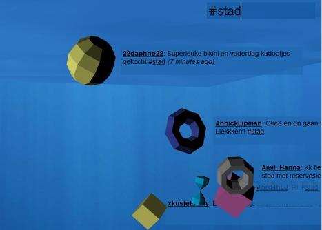 Tweetpond | Ambient visualisation of Twitter | Visualisatie-tools Social Media | Scoop.it
