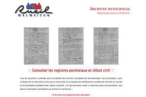 GénéInfos: Rueil-Malmaison : encore de l'état civil en ligne !   GenealoNet   Scoop.it