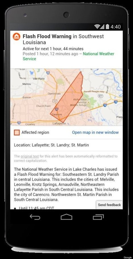 Google Adds Live Tweets To Disaster Alert Feature | The impact of social media in emergencies | Scoop.it
