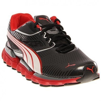 0cfea0a3b9 PUMA Walleri JR Running Shoe (Little Kid/Big Kid),Black/White/High Risk  Red,6 M US Big Kid