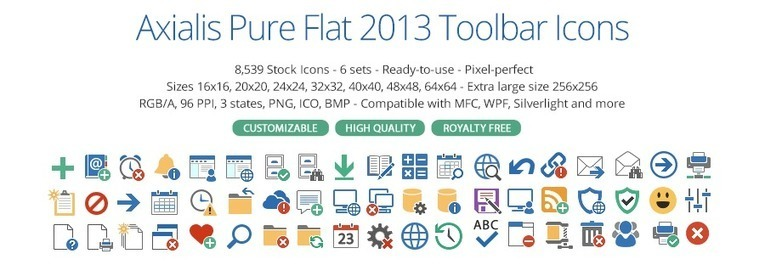 Axialis Pure Flat 2013 Toolbar Icons 44 Tisdi