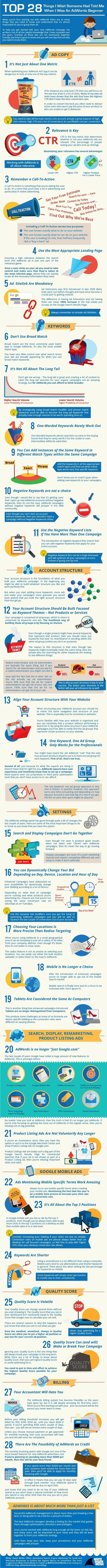 28 Tips For AdWords Beginners I Wish Someone Had Told Me [Infographic] | Curation SEO & SEA | Scoop.it
