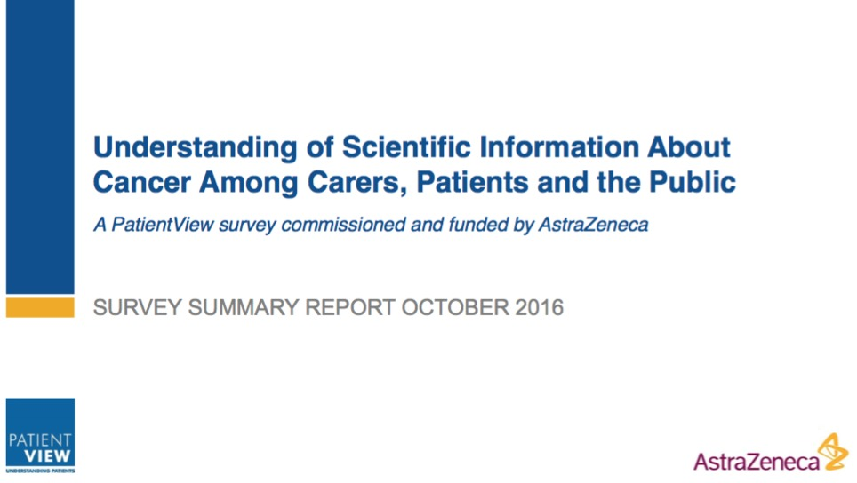 Better information would improve cancer management, according to PatientView survey | New pharma | Scoop.it