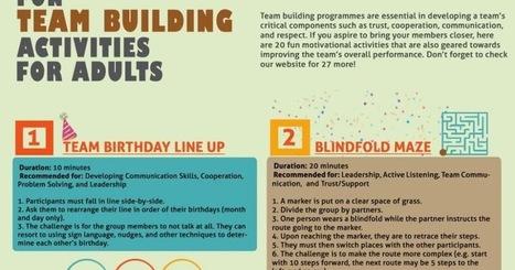 Fun Team Building Activities for Adults | Ideias | Scoop.it