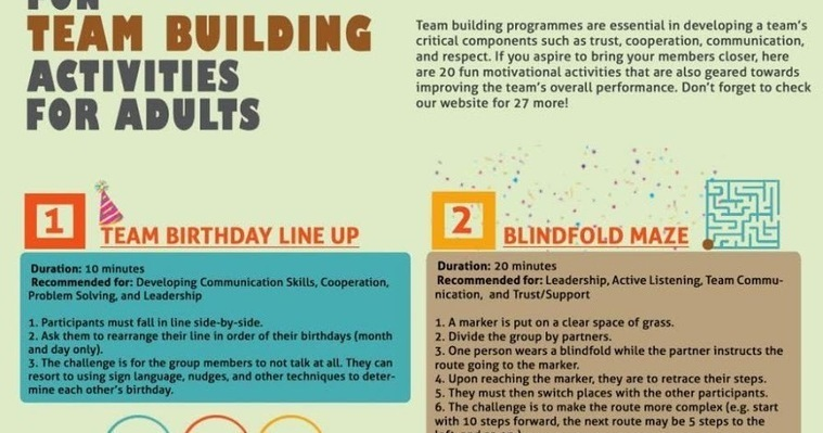 team building activities for adults pdf