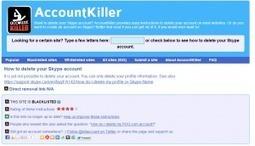 AccountKiller. Comment supprimer vos comptes sur Internet - Les outils de la veille   Les outils du Web 2.0   Scoop.it
