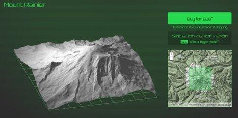 Print 3D terrain with the Terrainator - Google Earth Blog (blog) | Spatial in Schools | Scoop.it