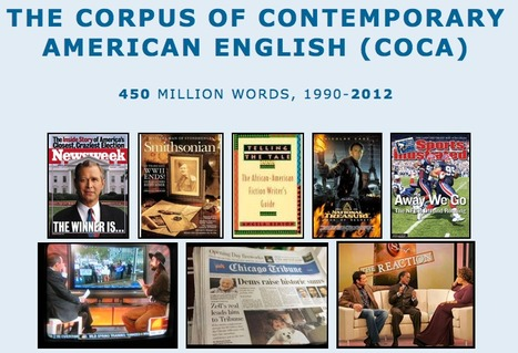 Corpus of Contemporary American English (COCA) | L2 Vocabulary Teaching & Learning | Scoop.it