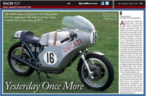 Alan Cathcart | Yesterday Once More - Paul Smart's Ducati | Cycle News | Ductalk Ducati News | Scoop.it