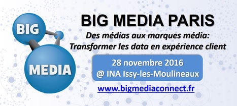 Des médias aux marques média : Transformer la data en expérience client​ #SaveTheDate 'Big Media Paris' 28 Nov 2016 (14h-16h) @ INA | Big Media (En & Fr) | Scoop.it