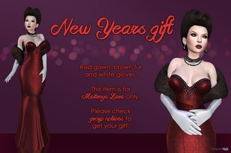 Daya Gown Brown Fur & White Gloves Group Gift by MAAI | Teleport Hub - Second Life Freebies | Second Life Freebies | Scoop.it