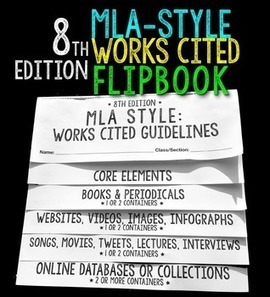 MLA Style 8th Edition Works Cited Flipbook | Common Core Resources for ELA Teachers | Scoop.it
