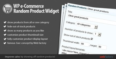 17 Must Have Premium eCommerce Wordpress Plugins | 13 Free E-Commerce Plugins For Your WordPress Blog | Scoop.it