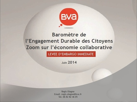 Baromètre BVA de l'Engagement Durable des Citoyens : zoom sur l'économie collaborative | DEPnews développement personnel | Scoop.it