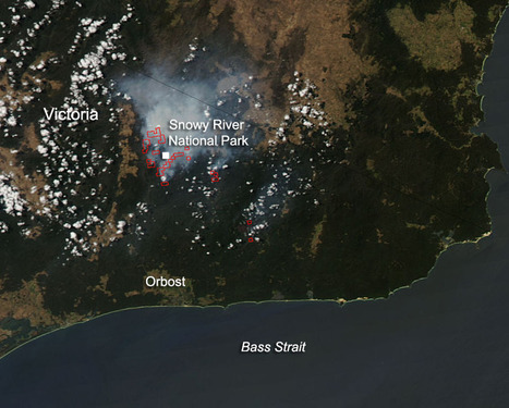NASA image: Fires in Victoria, Australia, Feb. 6, 2014 | Sustain Our Earth | Scoop.it