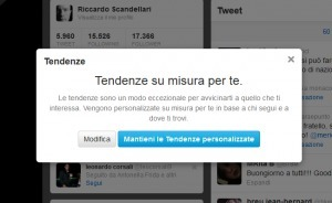 "Twitter lancia le ""tendenze personalizzate"" 