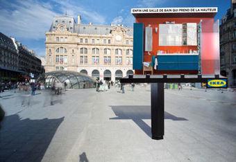 IKEA prend sa douche devant une gare | Immobilier de bureaux : communication et marketing. | Scoop.it