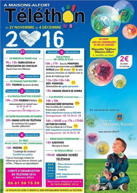 Participez aux activités du Téléthon   Charentonneau   Scoop.it