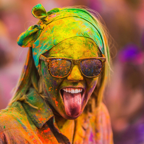 Colourful #Portraits from the 2012 #Festival of #Colours by Thomas Hawk. #art facialexpressions #events | Luby Art | Scoop.it