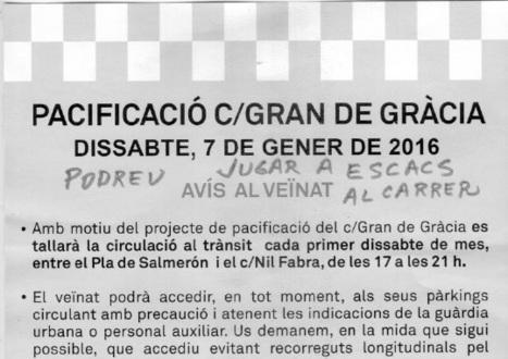 Pacificació Gran de Gràcia - dissabte 7/12/2017   Plaça Lesseps   Scoop.it
