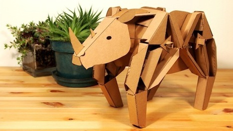 Kinetic Creatures: The cardboard robots that kids can build | The Robot Times | Scoop.it