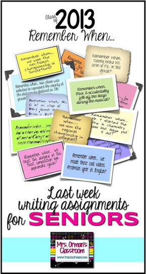 Seven End-of-the-Year Writing Prompts for High School Seniors | Common Core Resources for ELA Teachers | Scoop.it