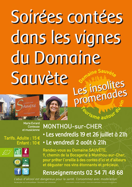 Soirée contées dans les vignes du domaine Sauvète | Tourisme du vin | Scoop.it