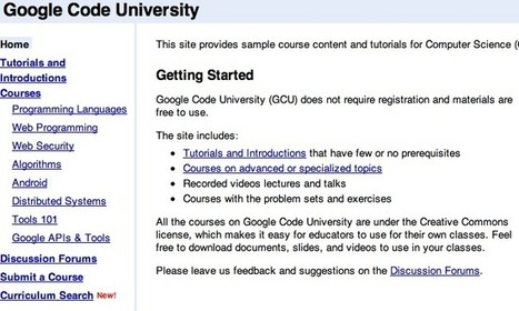 "Google Code University - Google Code | ""#Google+, +1, Facebook, Twitter, Scoop, Foursquare, Empire Avenue, Klout and more"" | Scoop.it"