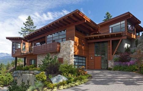 impriale maison bois et pierre face aux lac et montagnes canadiennes with maison en bois philippe starck