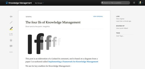 The four Ifs of Knowledge Management | leadership and KM | Scoop.it