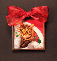 Santa's Cat In a Sack Cat Christmas Ornament   Christmas Cat Ornaments and Cards   Scoop.it