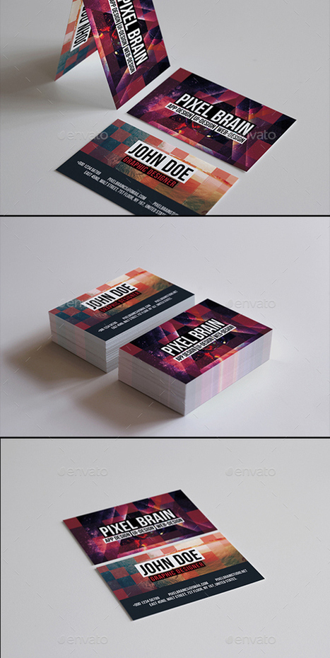 20 New Corporate Business Card PSD Templates | Design Slots | Scoop.it