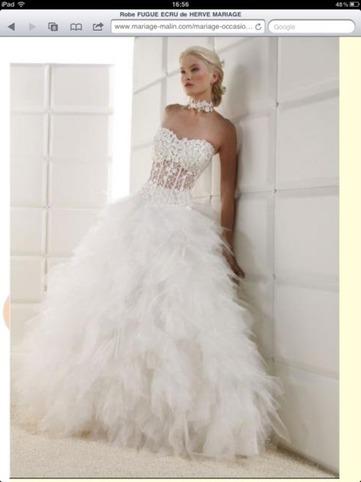robe de mariée bustier transparent - 64%