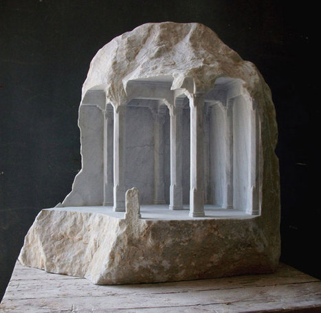 Realistic architectural sculptures carved into stones by Matthew Simonds | Architecture and Sculptures | Scoop.it