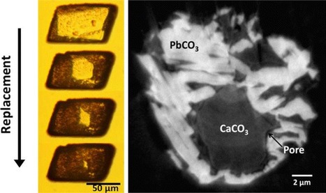 Replacement of Calcite (CaCO3) by Cerussite (PbCO3) | Mineralogy, Geochemistry, Mineral Surfaces & Nanogeoscience | Scoop.it