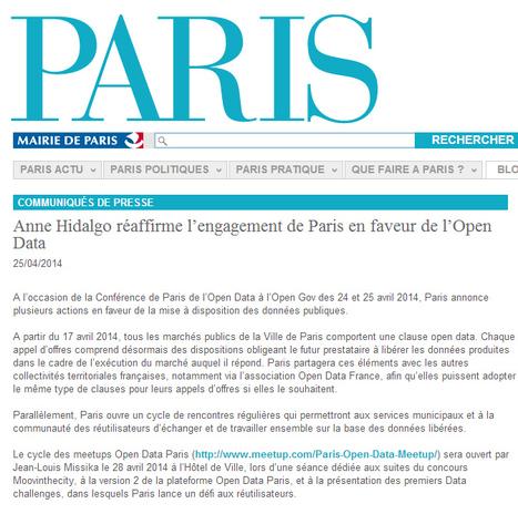 Anne Hidalgo réaffirme l'engagement de Paris en faveur de l'Open Data - Paris.fr | Open Data & Big Data | Scoop.it