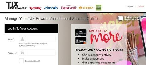 How To Login In TJX Rewards Platinum MasterCard